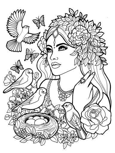 Fantasy Myth Mythical Mystical Legend Elf Elves Coloring Pages Colouring Adult Davlin Publishing Adultcol Coloring Pages Fairy Coloring Pages Coloring Books
