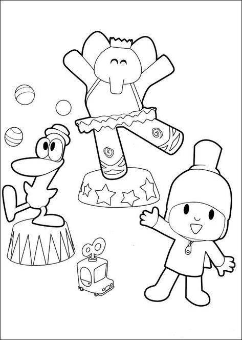 pocoyo 24 ausmalbilder für kinder malvorlagen zum
