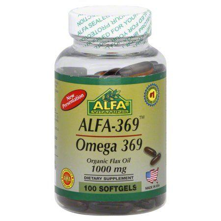 Alfa Vitamins Alfa 369 Omega 3 6 9 Flax Oil Softgels 1000 Mg 100