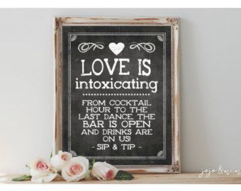 Image Result For Wedding Bartender Tip Jar Signature Drinks Sign Cocktails Sign Chalkboard Party