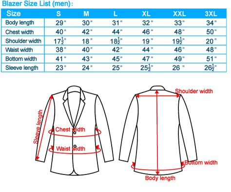 Suit Sizing and Measurements