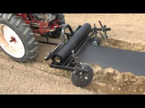 A Tuff Bilt Tractor Using Our New Mulch Applicator Youtube