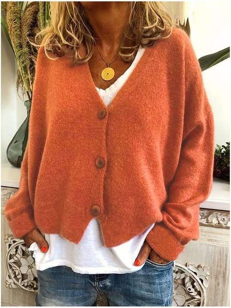 Casual Loose Knit Sweater Cardigan