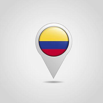 Colombia Flag Map Pointer Design Vector Colombia Pais Diseno Png Y Vector Para Descargar Gratis Pngtree Colombia Mapa De Colombia Disenos De Unas