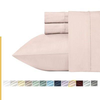 Blush Pink Twin Xl Bed Sheet Set 100 Cotton Sateen Weave Cooling 400 Thread Count Sheets Deep Pocket 3 Piece Bedding California Design Den In 2020 Bed Sheet Sets California Design Cal King Bedding