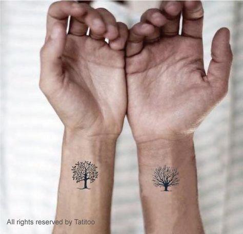 Cute flower wrist tattoo