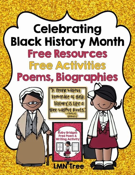 Celebrating Black History Month with Free Resources, Poems, Biographies, and Free Activities