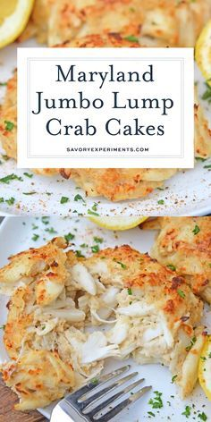 Maryland Crab Cakes Maryland Crab Cakes Are Made With Jumbo Lump Crab Meat With Little Filler Dijon Mustard And Old Bay Seasoning Plus Secrets To Making Authentic Chesapeake Crab Cakes Marylandcrabcakes Crabcakerecipe Www Savoryexperiments Com Maryland Crab Cakes, Maryland Seafood, Cajun Seafood Boil, Seafood Boil Party, Seafood Dip, Seafood Meals, Seafood Platter, Meat Meals, Crab Cake Recipes