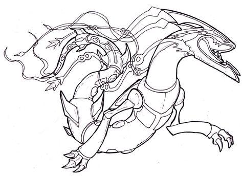 Rayquaza Pokemon Coloring Page Dibujos