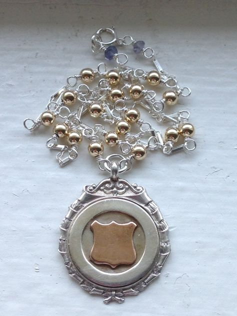 20mm x 24mm Solid 925 Sterling Silver with Gold-Toned Temple University Medium Pendant