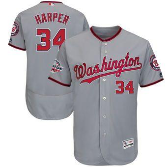save off e2af3 82494 Bryce Harper Washington Nationals Majestic 2018 All-Star ...