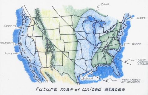 US Navy\'s Earth Changes Flood Map of America, Earth Changes Maps ...