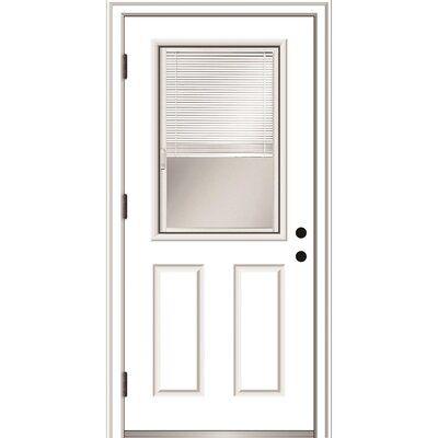 Verona Home Design Smooth Primed Fiberglass Prehung Front Entry Door Door Size 80 H X 32 W X 1 75 D Door Handing L Front Entry Doors Entry Doors Mmi Door
