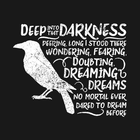 Check out this awesome 'The+Raven+Edgar+Allen+Poe+Quote' design on @TeePublic!