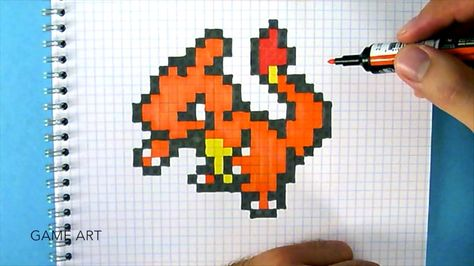 How To Draw Charmeleon Pokemon Go Youtube Pixel Art