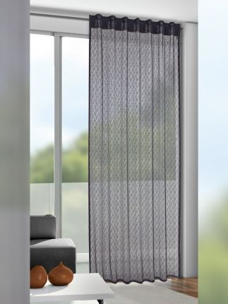 Gardinen Grau In Moderner Netzoptik Gardinen Outlet Gardinen Grau Haus Deko Dekor