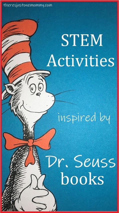 These Dr Seuss STEM activities are a fun way to celebrate Dr. Seuss's birthday and inspire kids to read more. They would be fun Dr. Seuss activities to do in the classroom or at home. Dr. Seuss, Dr Seuss Stem, Dr Seuss Day, Dr Seuss Activities, Preschool Books, Kindergarten Activities, Science Activities, Dr Suess Games, Summer Activities