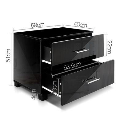 Black Sloane Gloss Bedside Table | Bedroom cabinets, Modern ...