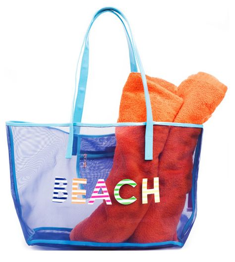 Fun mesh beach tote
