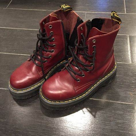 in stock shades of fashion style Dr. Marten Jadon 8-Eye Boot Part of the Dr. Martens Quad ...