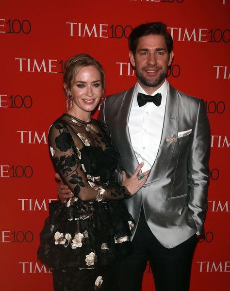 Emily Blunt and John Krasinski attend the Time 100 Gala in NYC.
