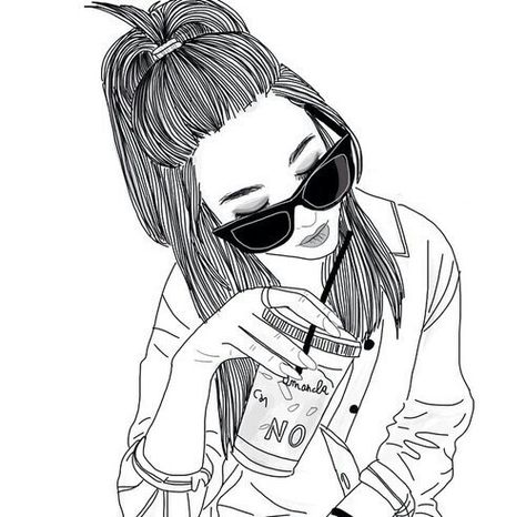 Photo Dessins Hipster Hipster Girl Drawing Et Dessin
