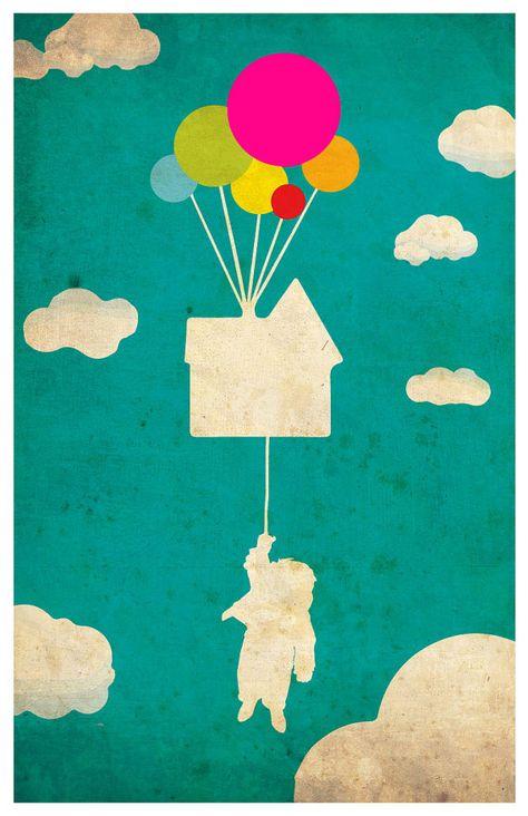 Disney Pixar movie poster - UP