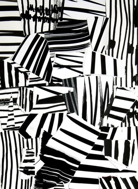 Monochrome Print Design - mark making; pattern collage // Laurent Koller