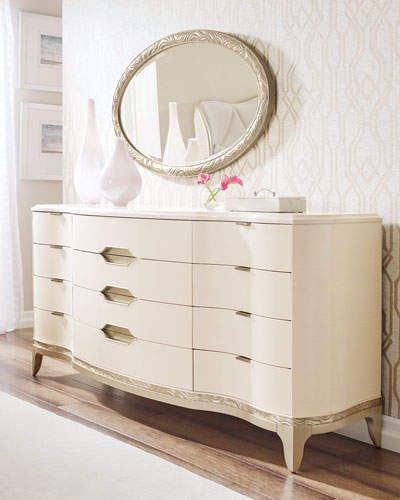 Caracole Adela Dresser Scandinavian Interior Design Scandinavian Interior Dresser With Mirror Decor Interior Design Fine Furniture Design