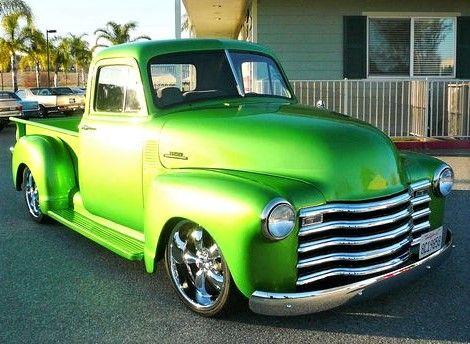 53 Cool Chevy Truck In Sublime Metallic Lime Jamezorlando Show Trucks Classic Pickup Trucks Trucks