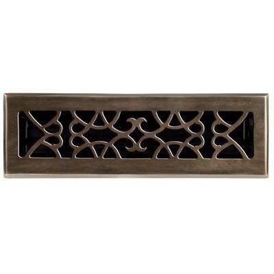 Brass Elegans 2 25 X 10 Solid Cast Brass Floor Register Trim In Antique Brass Floor Registers Brass Decor Vent Covers