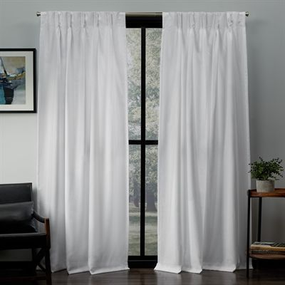 Exclusive Home Curtains Drape Eh8302 0 Loha 27 In X 96 In Linen