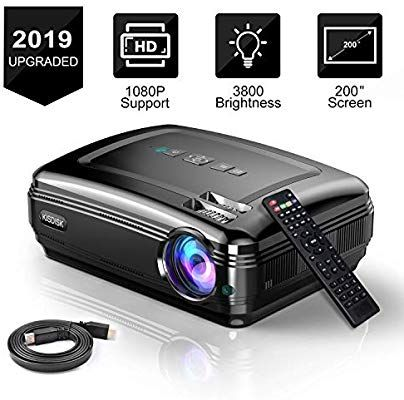Video Projector Full Hd Projector 3800l Movie Projector For Home Theater Office Business Powerpoint Presentati Home Movie Projector Movie Projector Projector