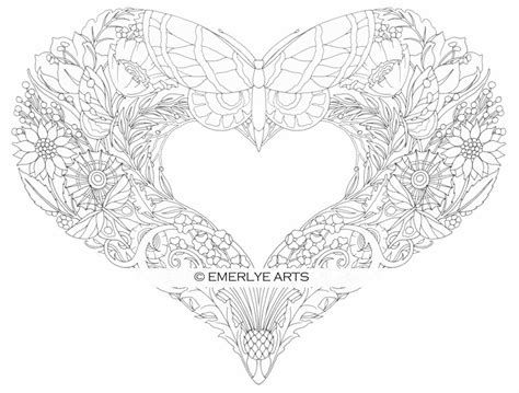25 If You Are Looking For Butterfly With Hearts Coloring Pages