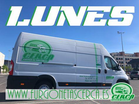 Necesitas alquilar una furgoneta 🚚 hoy lunes 🙄?   Cerca Alquiler De Furgonetas 🚚   www.furgonetascerca.es 🌎