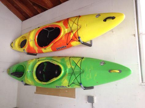 Miles Paddled | Canoe + Kayak Wisconsin: Homemade (& Affordable) Kayak Rack