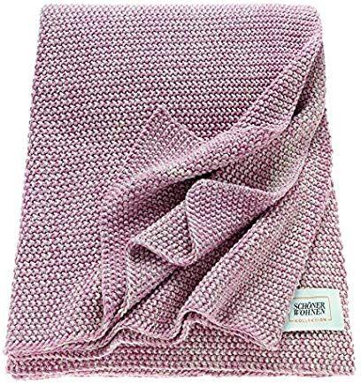 Schoner Wohnen Melange Plaid Baumwolle Rose 170 X 130 Cm Geschenkideen Haus Home Heimtextilien Baumwolle Schoner Wohnen Textilien