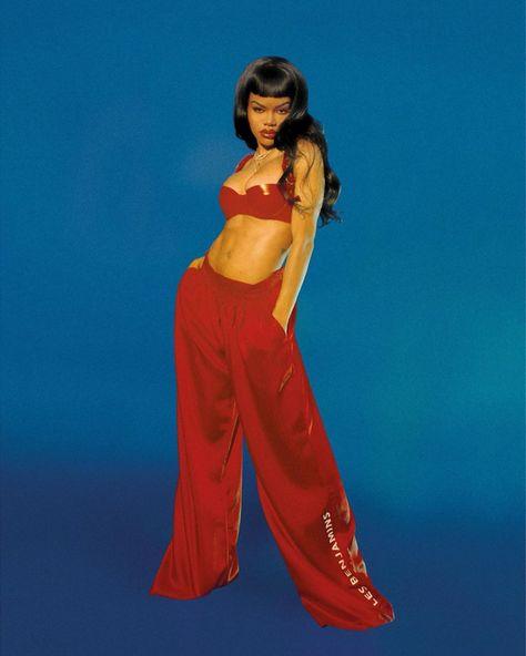 (flyandfamousblackgirls: Teyana Taylor in Notion. Black Girl Fashion, 90s Fashion, Fashion Outfits, Celebrities Fashion, Celebs, Teyana Taylor, Dearra Taylor, Lana Del Ray, Frank Ocean