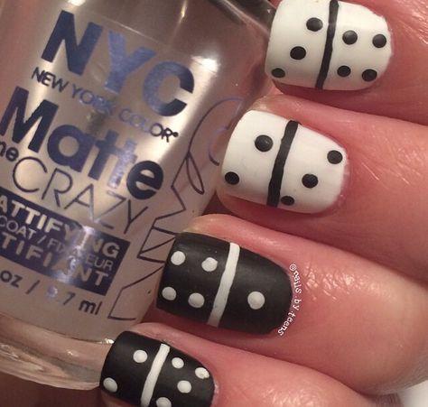 Domino Nails Nail Art