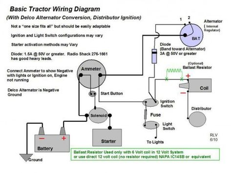 Ford Tractor Ignition Wiring Diagram Allis Chalmers Wd 12 Volt Alternator Ford Tractors Tractors