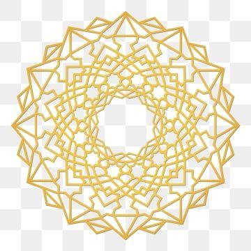 الزخرفة الإسلامية الزينة الماندالا الذهبية الدائرة دين الاسلام مبارك رمضان Png وملف Psd للتحميل مجانا Geometric Background Mandala Mandala Pattern