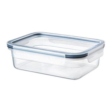365 Bote Con Tapa Rectangular Plastico 1 0 L Plastic Food