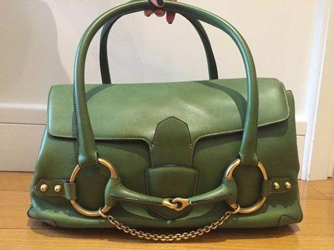 d58c8aaf21c Gucci -  Horsebit  handtas - Vintage Vintage Gucci groene lederen tas kan  gebeuren met de hand of over de schouder. De zak opent als een satchel en  functies ...