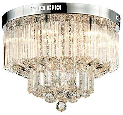 Saint Mossi Modern Glass Raindrop Chandelier Lighting Flush Mount LED Ceiling Light Fixture Pendant Lamp for Dining Room Bathroom Bedroom Livingroom 4