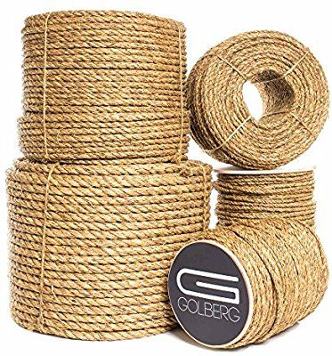 Golberg 3 Strand Natural Fiber Tan Manila Rope In Multiple Diameters 1 4 Inch 5 16 Inch 3 8 Inch 1 2 Inch 5 8 Inch Manila Rope Old Lamps How To Make Rope