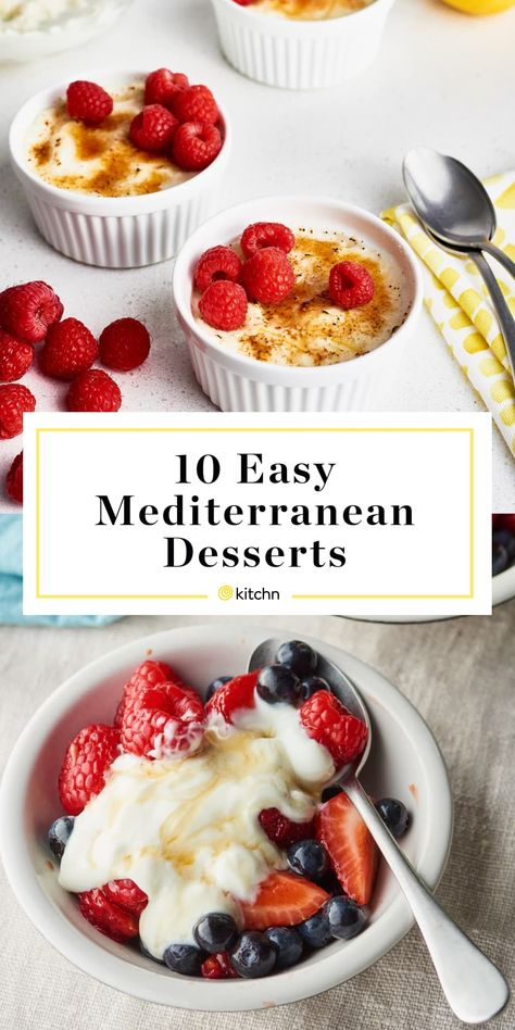 mediterranean desserts kitchn enjoy easy diet you can the 10 on 10 Easy Desserts You Can Enjoy on the Mediterranean Diet KitchnYou can find Mediterranean diet and more on our website Easy Mediterranean Diet Recipes, Mediterranean Dishes, Mediterranean Diet Breakfast, What Is Mediterranean Diet, Mediterranean Diet Shopping List, Dessert Simple, Diet Food To Lose Weight, Weight Loss Meals, Diet Desserts