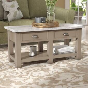 Amstel Farmhouse Tufted Coffee Table Coffee Table With Storage