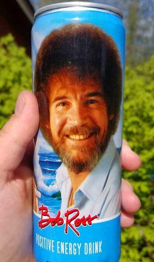Bob Ross Positive Energy Drink Energy Drinks Refreshing Drinks Positive Energy