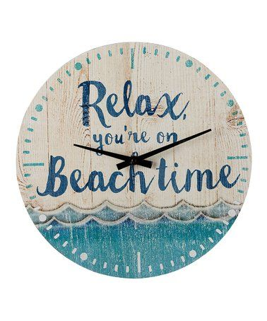 Loving This Relax You Re On Beach Time Wall Clock Beach