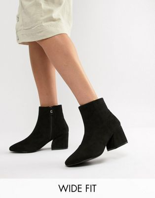 classic 100% high quality quality RAID Wide Fit Black Heeled Ankle Boots | Looks in 2019 | Black ...